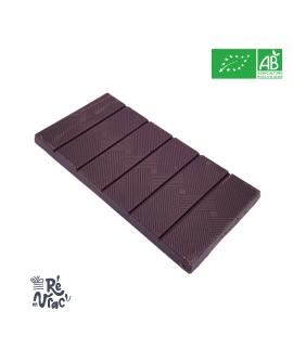 Tablette chocolat noir bio 74% amandes salées