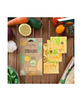 Pack découverte : 3 beewraps fruits & légumes